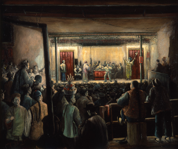<strong>Stafford Mantle Northcote, <em>Hi Hee, Chinese Theatre, NYC</em>, 1900. Oil on linen. New-York Historical Society, Gift of George A. Zabriskie.</strong>