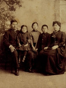 The Tape Family: Joseph, Emily, Mamie, Frank, and Mary, 1884.